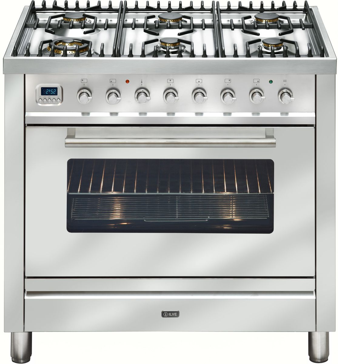 Ilve Freestanding Gas Oven Stove Nt906wvgss Winning Appliances Smeg Electric Stainless Steel