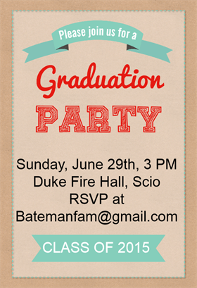 """Graduation Party""  printable invitation template. Customize, add text and photos. Print or download for free! #Invitation #Free #Graduation Party #Tamplate"