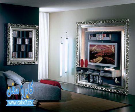 صور ديكورات تلفزيون روعة 2015 صور شكل جديد لتعليق التلفزيون 2015 منتديات كايرو سفن Art Deco Interior Design Art Deco Interior Design