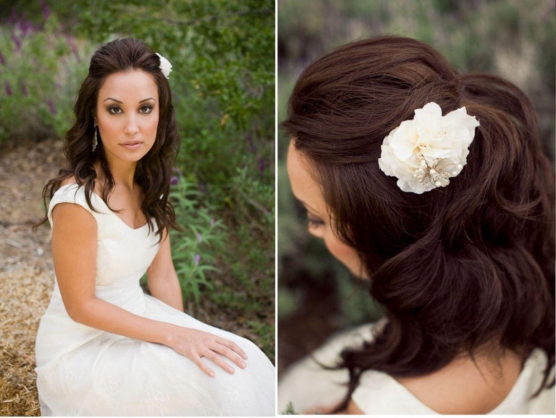 Wedding Hairstyles For Medium Length Straight Hair 1140 X 856 ...