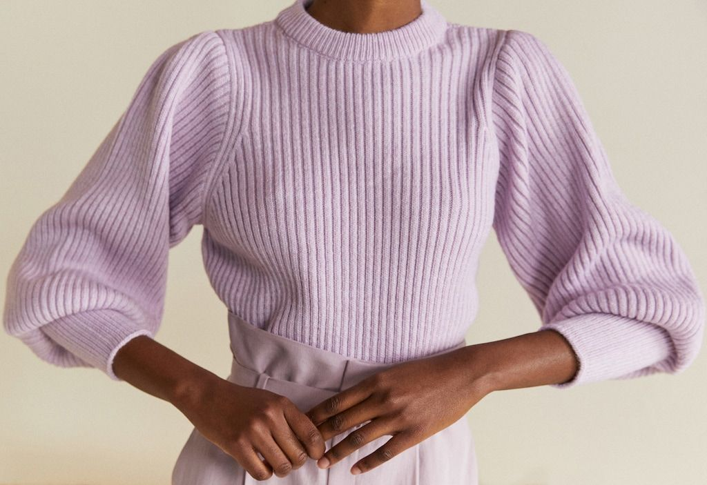 60ed487d2d7 Puffed sleeves ribbed jumper - Women