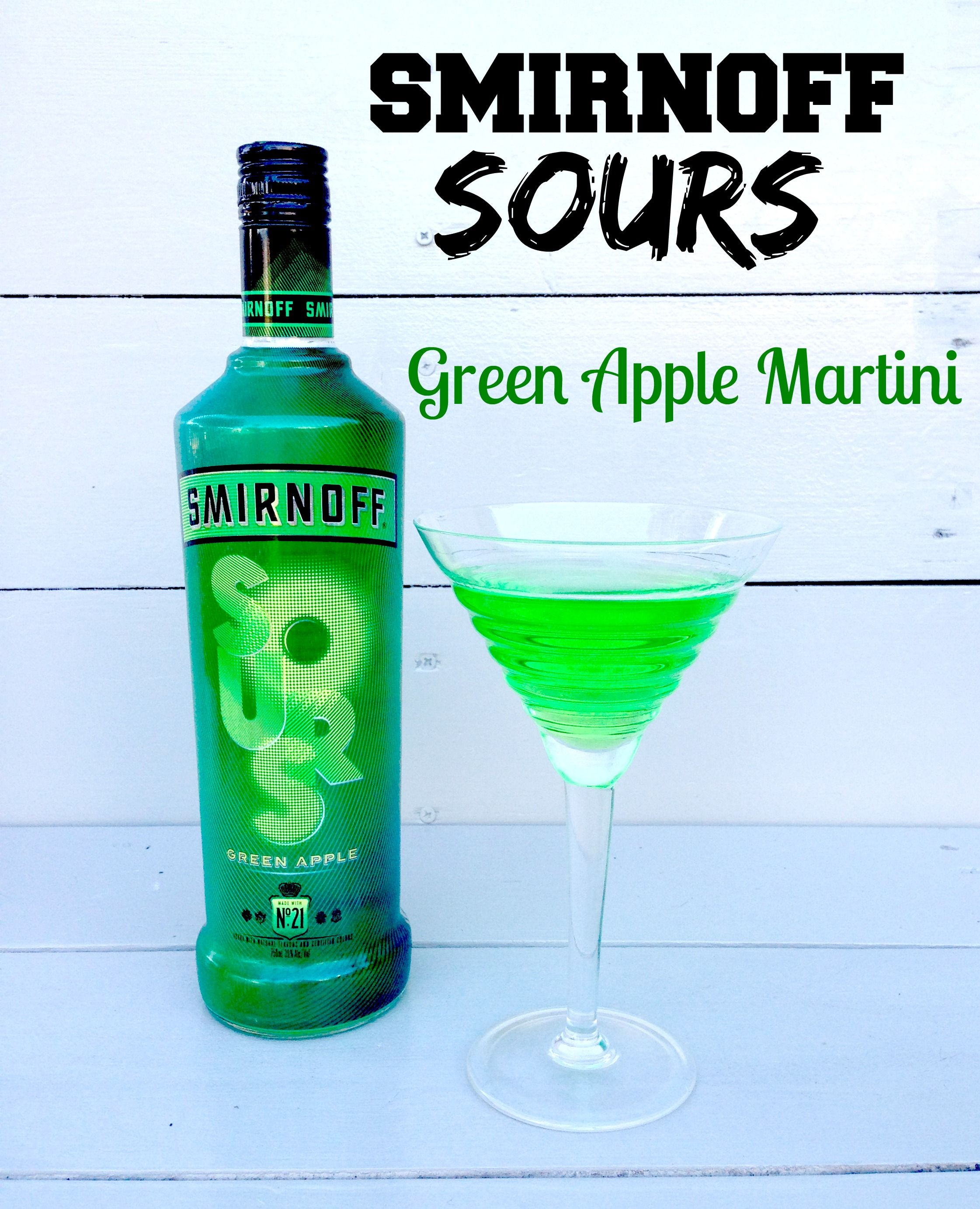 Lots of smirnoff sours green apple vodka recipes for Green apple mixed drinks