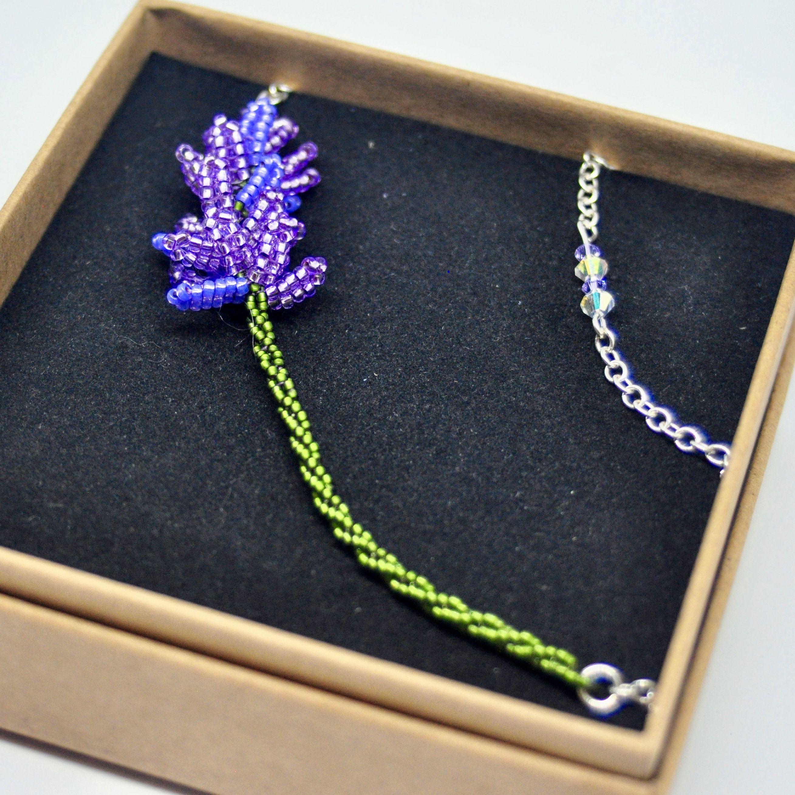 Lavender Necklace Asymmetrical Lavender Necklace Floral Lavender Necklace Lavender Silver Necklace Mother S Day Flower Gift In 2020 Lavender Necklace Flower Necklace Feminine Jewelry