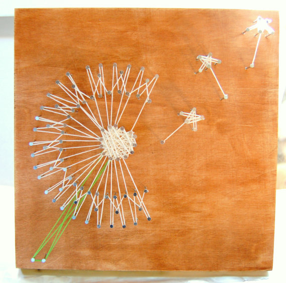 Dandelion String Art Custom Wall Art Personalized String Art