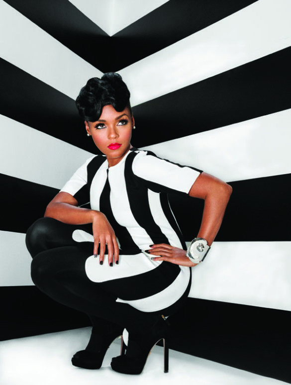 spirals and waves oh my! natural graduation hair idea Janelle Monae For Uptown Magazine (2013)