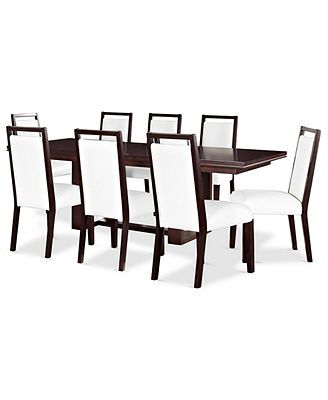 Belaire Dining Room Furniture 9 Piece Set Dining Table And 8 Prepossessing 8 Pc Dining Room Set Decorating Inspiration