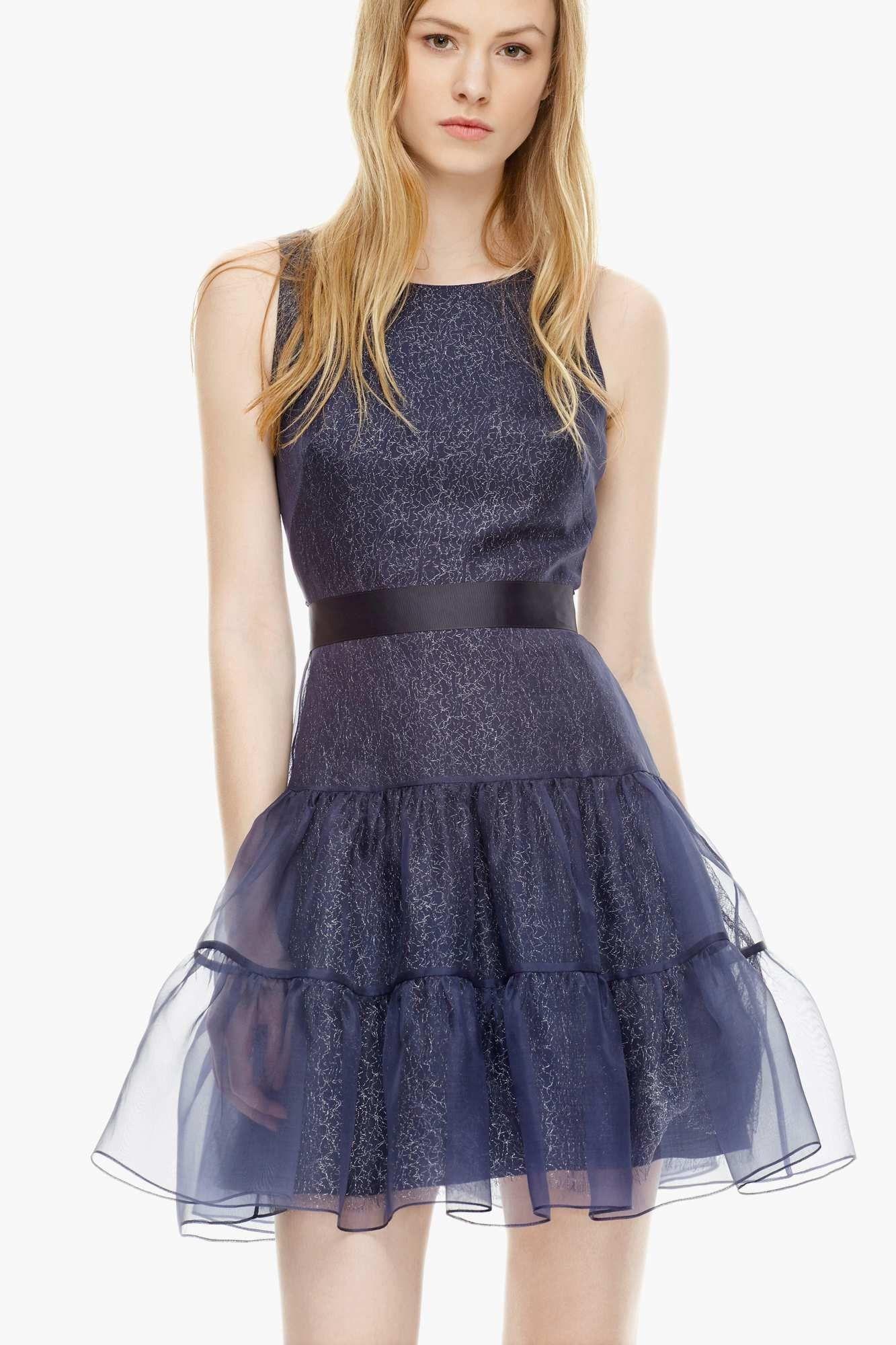 Vestido lady en organza de seda - Vestidos | Adolfo Dominguez shop ...