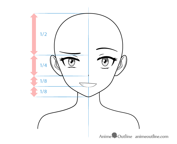 How To Draw Anime Characters Tutorial Animeoutline Anime Eye Drawing Anime Character Drawing Anime Head Shapes