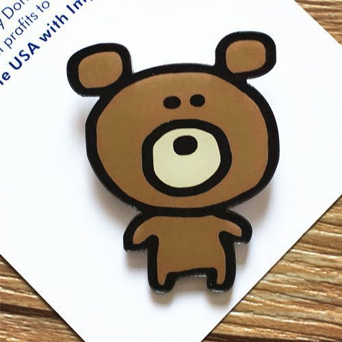 1 PCS Brooch Cartoon Animal Acrylic Badges Backpack Accessories Badge Decoration Brooches