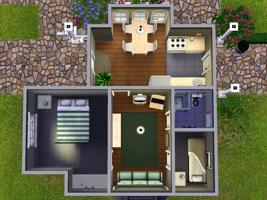 Modthesims Wee Barnoid 17 Budget Starter Under 13 000 No Cc Sims House Design Sims 4 House Design Sims Freeplay Houses