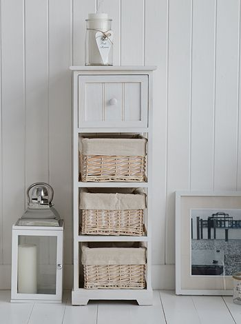 Living Room Furniture White New England And Coastal Style White Bathroom Furniture White Bathroom Storage Furniture