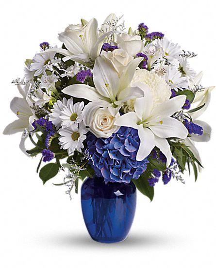Beautiful In Blue Flowers Flower Bouquet Teleflora