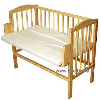 Goede 5 in 1 Aanschuifbedje Co-sleeper Naturel - Bed4Baby XV-57