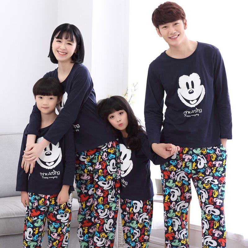 ec14538151 Cheap Familia Ropa A Juego Del Bebé Mamá Mujeres Chica Kids Primavera Otoño Pijamas  Pijamas Familia Padre Madre Hijo A Juego Clothings MM43