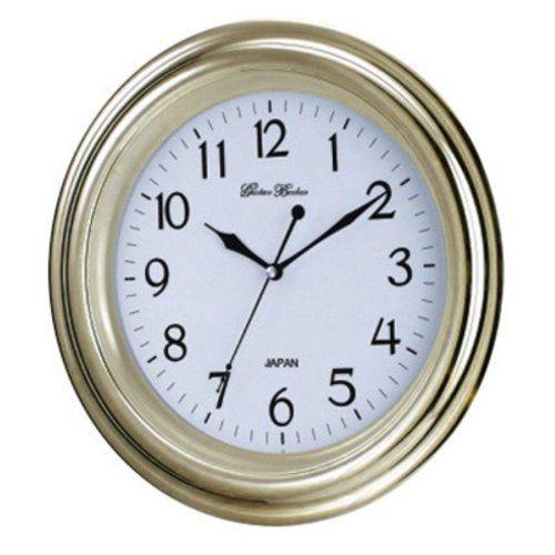 New Haven Seiko Movement Wall Clock Gold Rim Wall Clock Clock Oversized Wall Clock
