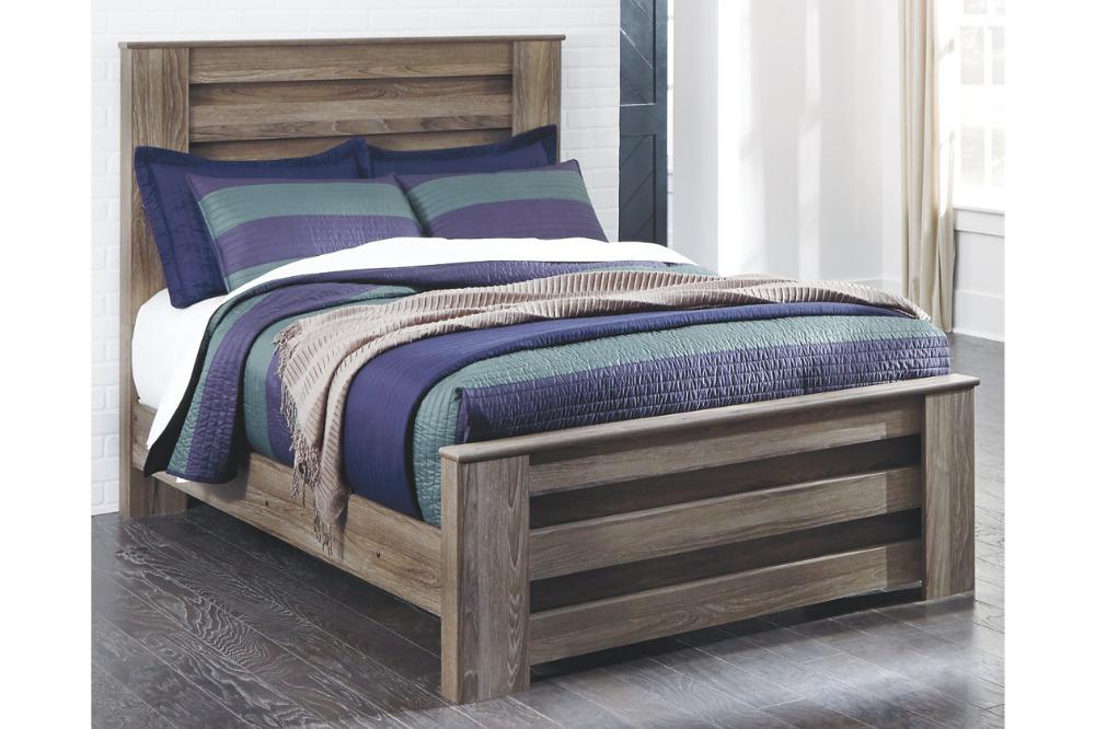 Zelen Queen Panel Bed Upholstered panels, Panel bed