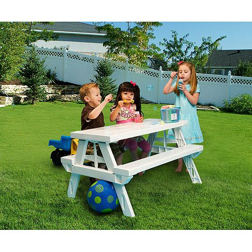 Kidnic Childrens Picnic Table With Folding Design 49 97