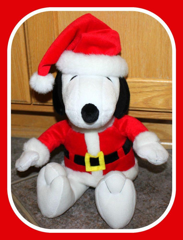 "Hallmark Snoopy PEANUTS Collection Plush Christmas SANTA Suit 14"" EUC Birthday #Hallmark"