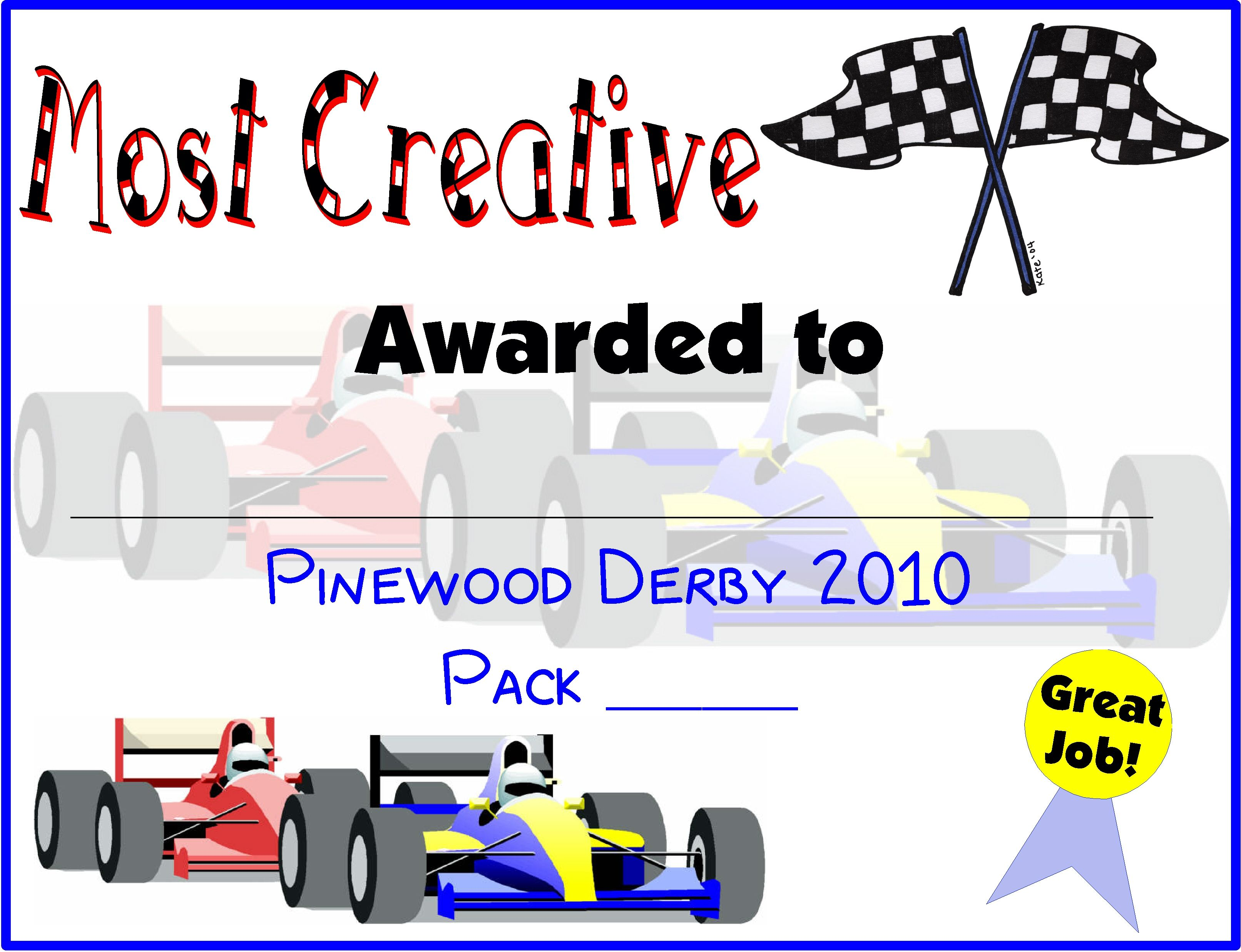 Pinewood Derby Certificates | Do Your Best! Cub Scouts | Pinterest