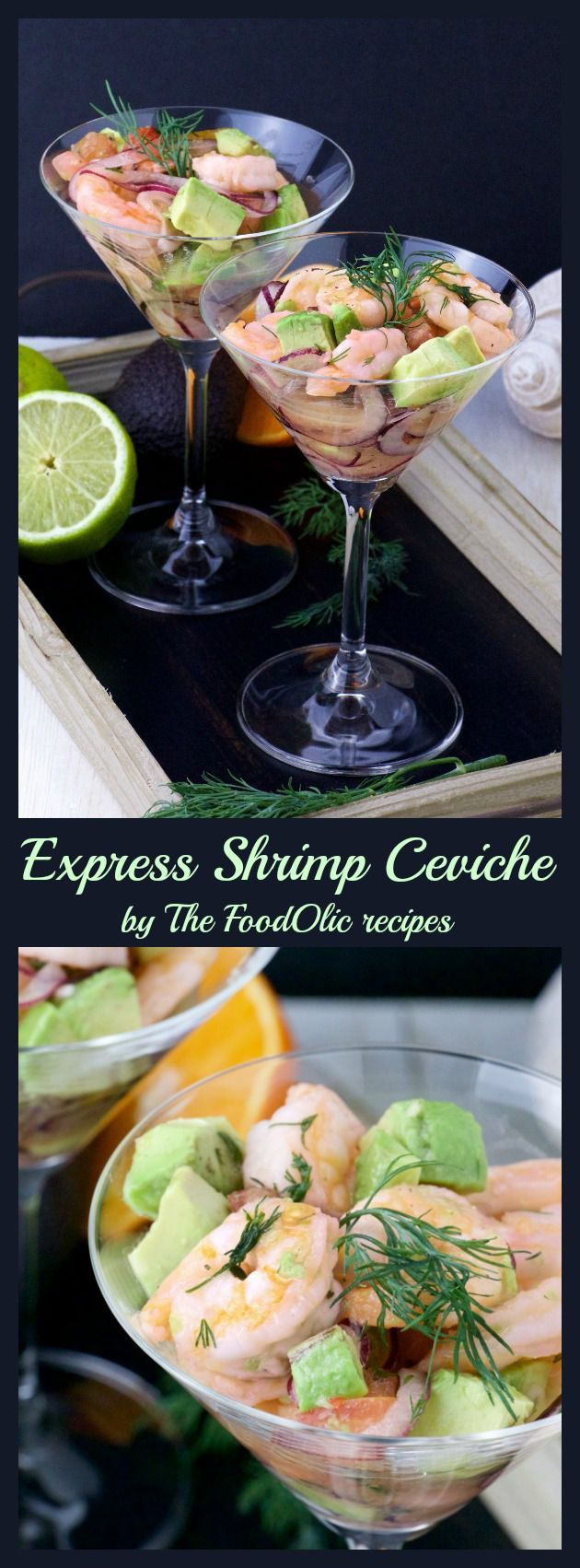 Express Shrimp Ceviche is a light and refreshing appetizer great for any occasions. It's a
