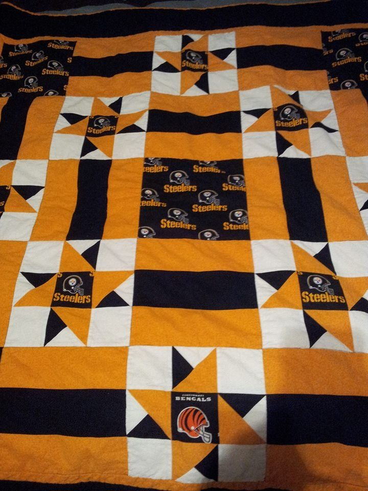 Steeler 1 Fan Quilt With A Special Touch Crafts