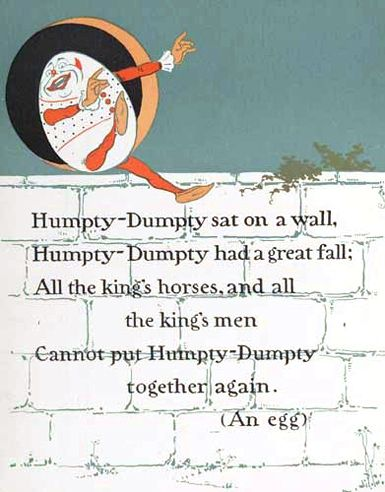 Free Vintage Mother Goose Humpty Dumpty Printable Ilration Nursery Rhyme