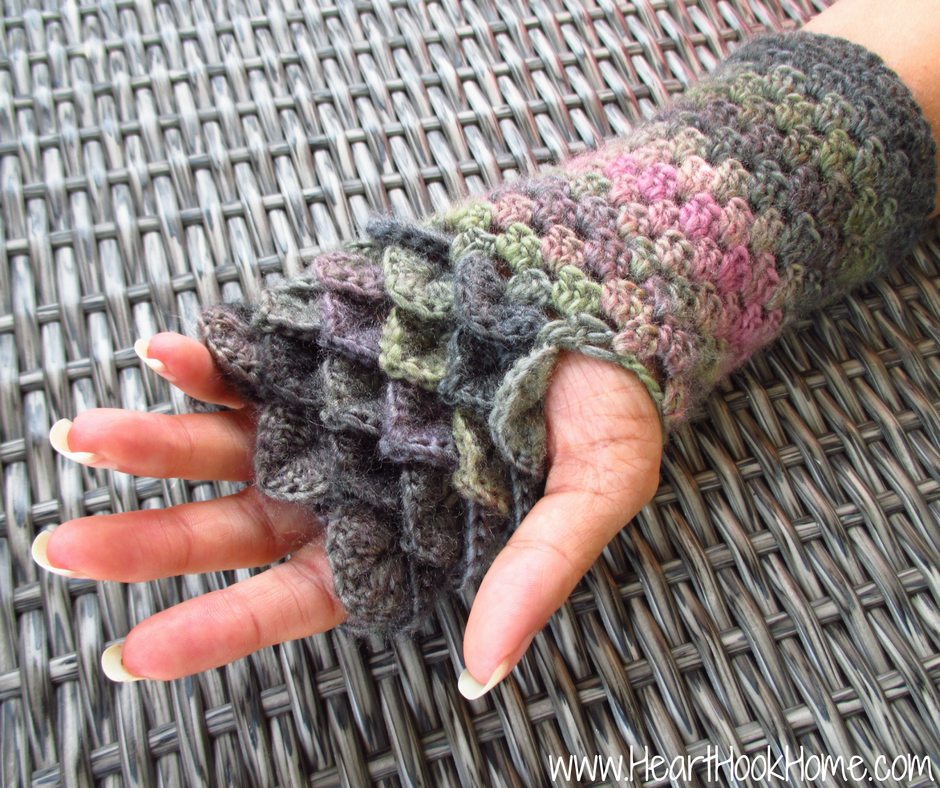 Dragon Tears Fingerless Gloves Crochet Pattern Crochet Patterns