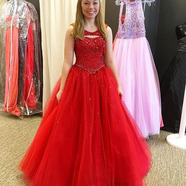 Red Ball Gown Prom Dresses, Formal Dresses, Graduation Party Dresses, Banquet Gowns on Luulla