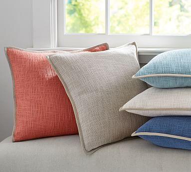 Cotton Basketweave Pillow Covers Pb Client Lydia Sun