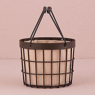 86e93b033af755 Metal Decorative Baskets You ll Love