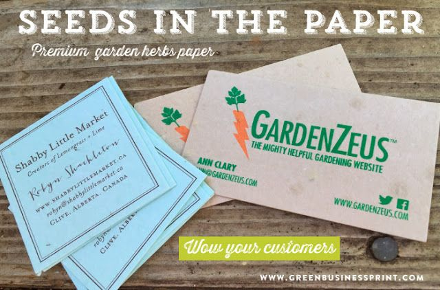 Leave A Lasting Impression With Plantable Business Cards Business