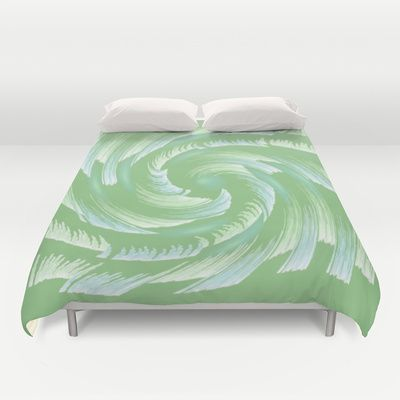 Water Swirl Abstract Duvet Covers by Judy Palkimas