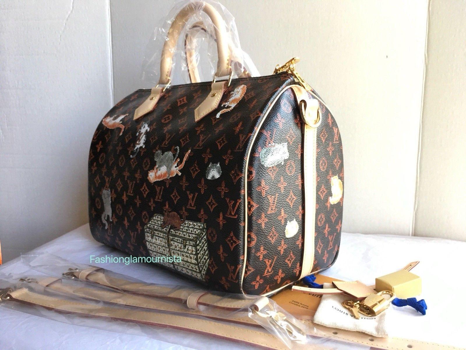 562c21f52fde4 Auth BNIB Louis Vuitton Catogram Speedy Bandouliere 30 Grace Coddington Bag