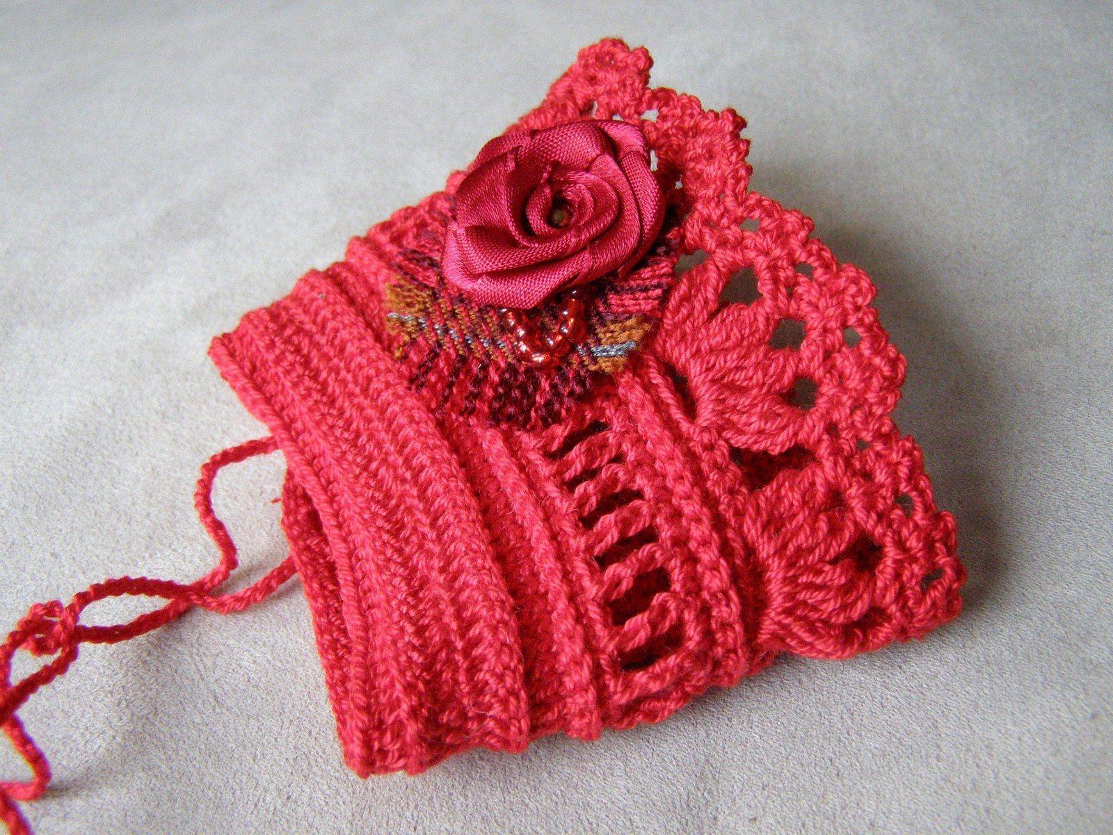 crochet cuff bracelet | J19 Stulpen gehäkelt,gestrickt u.genäht ...