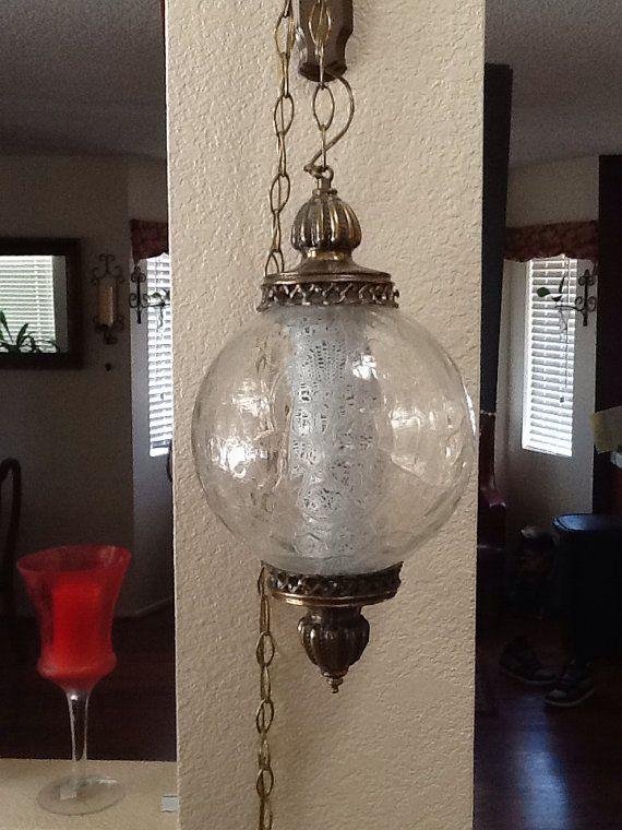 Vintage hanging light fixture | Home improvement | Pinterest ...