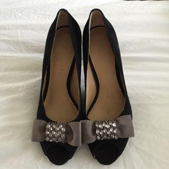 Talbots peep toe heels Gorgeous black Talbots peep toe 2 inch heels in perfect condition Talbots Shoes Heels