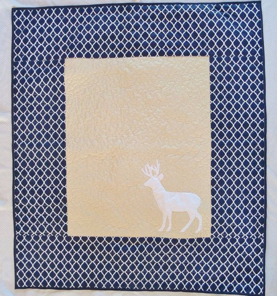 Hey, I found this really awesome Etsy listing at https://www.etsy.com/listing/209722413/woodland-rustic-deer-quilt-homemade-baby