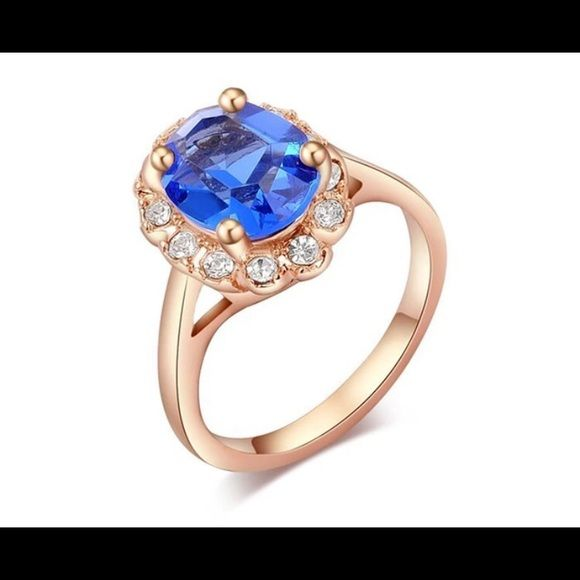 T/&F-Jewelry Fashion Rose Gold Plated Finger Ring For Women Luxury Jewelry Wedding Rings