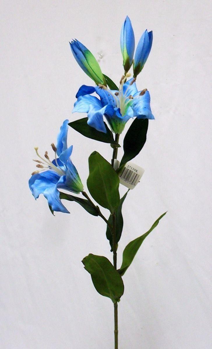 1 bouquet artificial flowers turquoise blue tiger lily spray silk 1 bouquet artificial flowers turquoise blue tiger lily spray silk flowers wedding centerpieces arrangements artificial plant fake craft floral home decor 28 izmirmasajfo