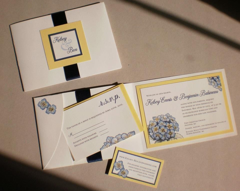My beautiful invitations made by my wonderfully artistic friend =)
