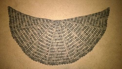 Sort Of Half Circle Shawl Free Crochet Pattern By Purpleiguana