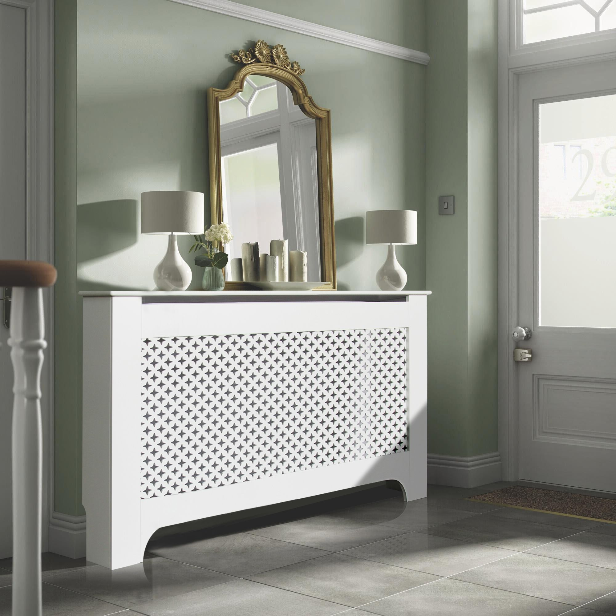 Bathroom Cabinets Uk Bq Richmond Large White Painted Radiator Cover The Ojays