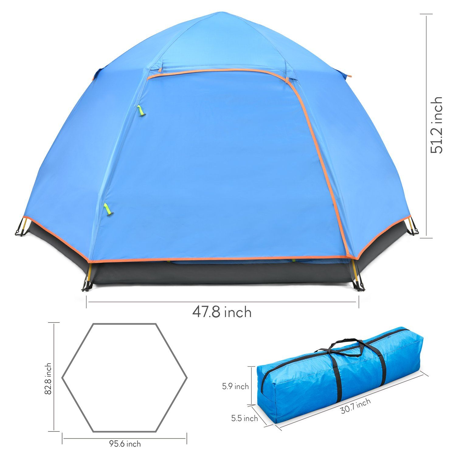 Amagoing C&ing Tent 4 Person Instant Pop Up Family Tent Double Layer Waterproof 4 Season Backpacking Tent for Picnic Hiking Fishing Traveling u003eu003eu003e You can ...  sc 1 st  Pinterest & Amagoing Camping Tent 4 Person Instant Pop Up Family Tent Double ...