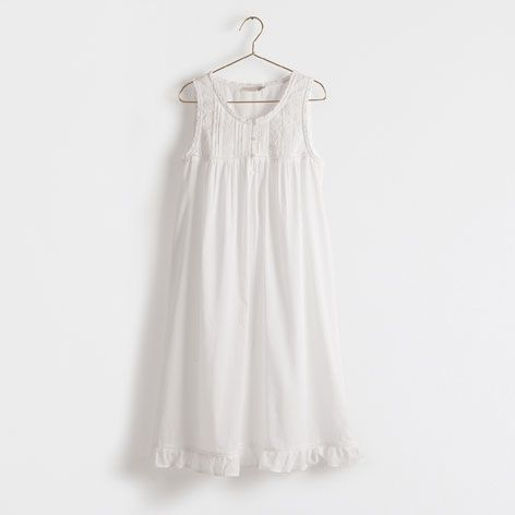 8a3a37dd Embroidered Cotton Nightdress - Clothing - Woman - Homewear & shoes | Zara  Home Hungary