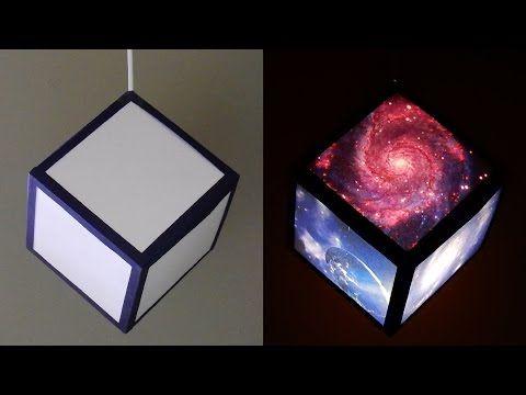 DIY Pendant Lamp/lantern (galaxy Cube)   Home And Room Decor   EzyCraft