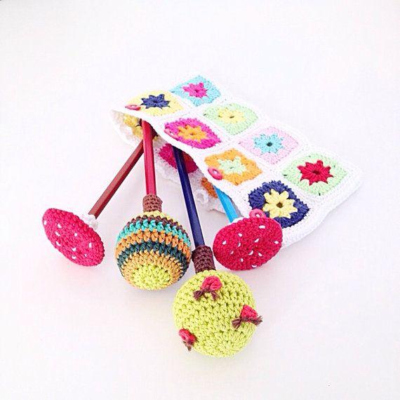 Crochet Pencil Toppers PDF Pattern  Instant by annemariesbreiblog