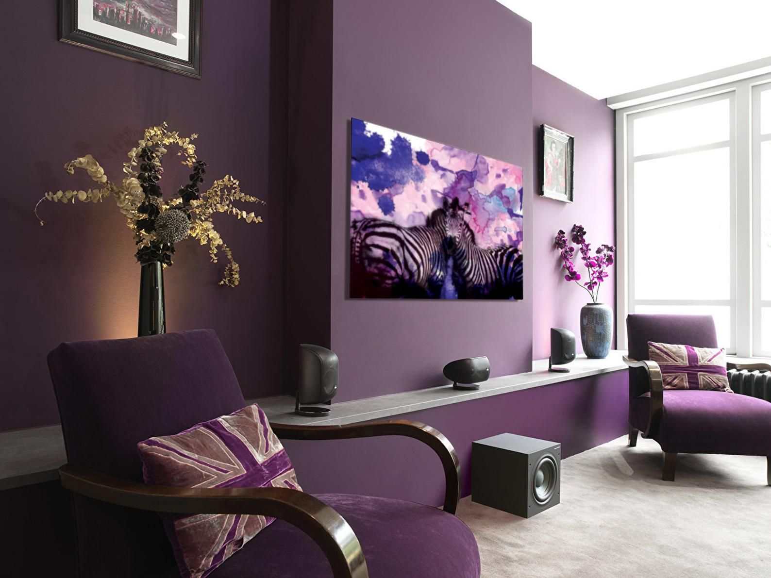 Pin On House Painting Design #purple #and #black #living #room
