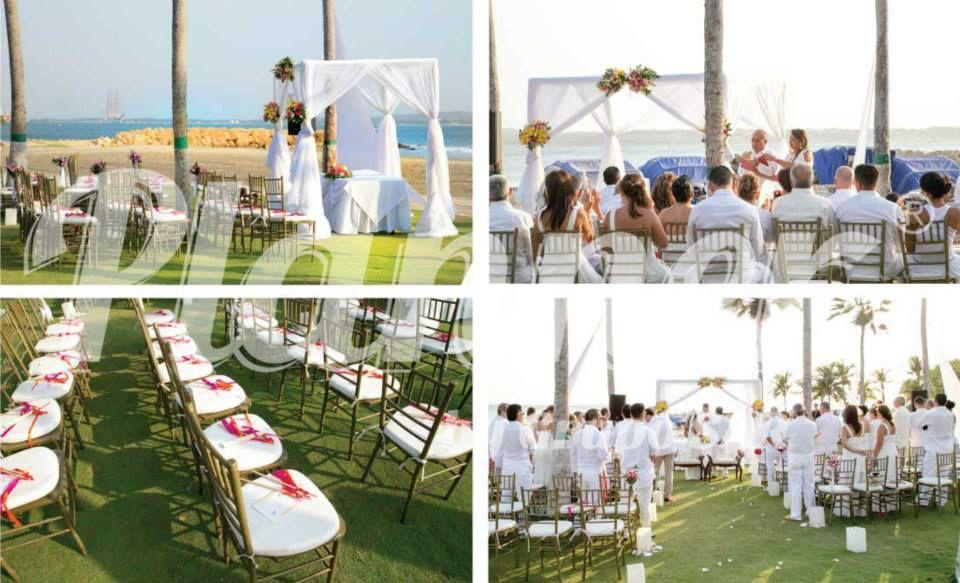 Con El Mar De Testigo Boda En La Playa Del Hotel Hilton Cartagena
