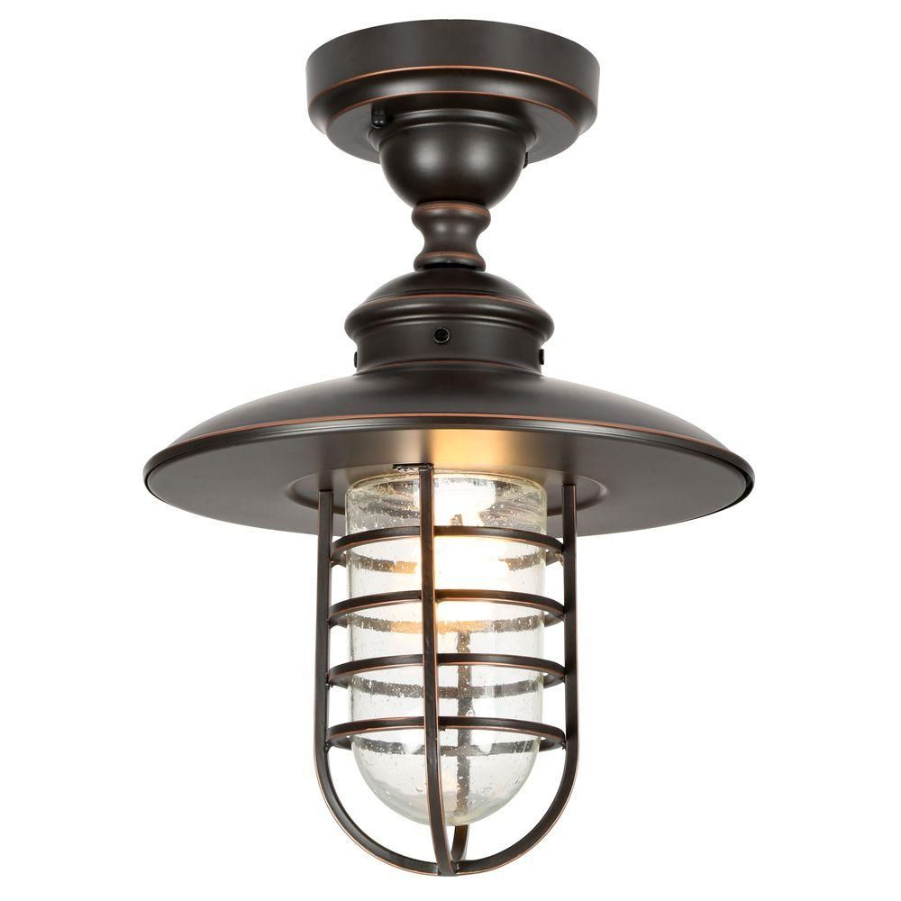 Hampton bay dualpurpose light outdoor hanging oilrubbed bronze