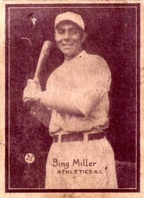 The Trading Card Database 1931 W517 31 Bing Miller Baseball History Baseball Cards Baseball
